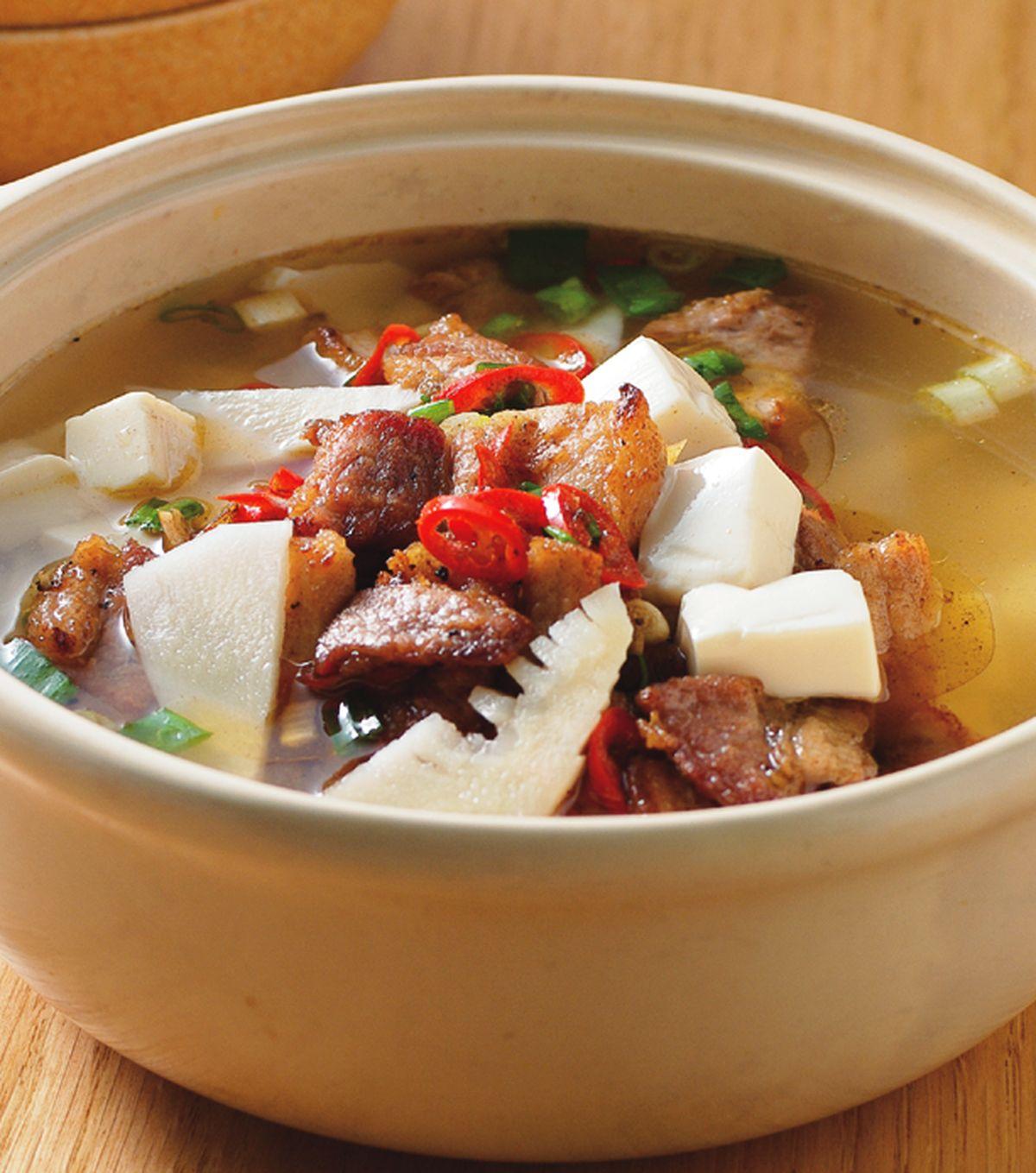食譜:椒麻豬肉煲