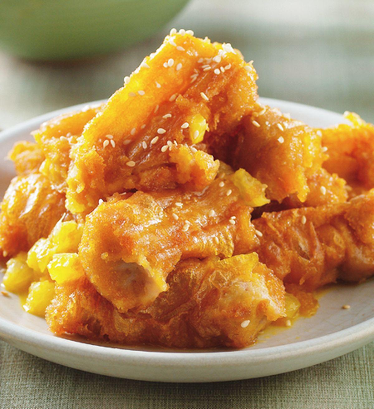 食譜:橙汁子排