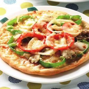 彩蔬鮮菇比薩