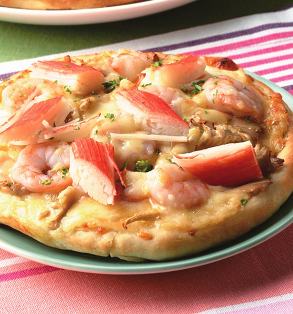 食譜:法式蝦蟹鮑魚菇比薩