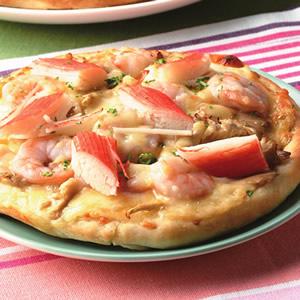 法式蝦蟹鮑魚菇比薩