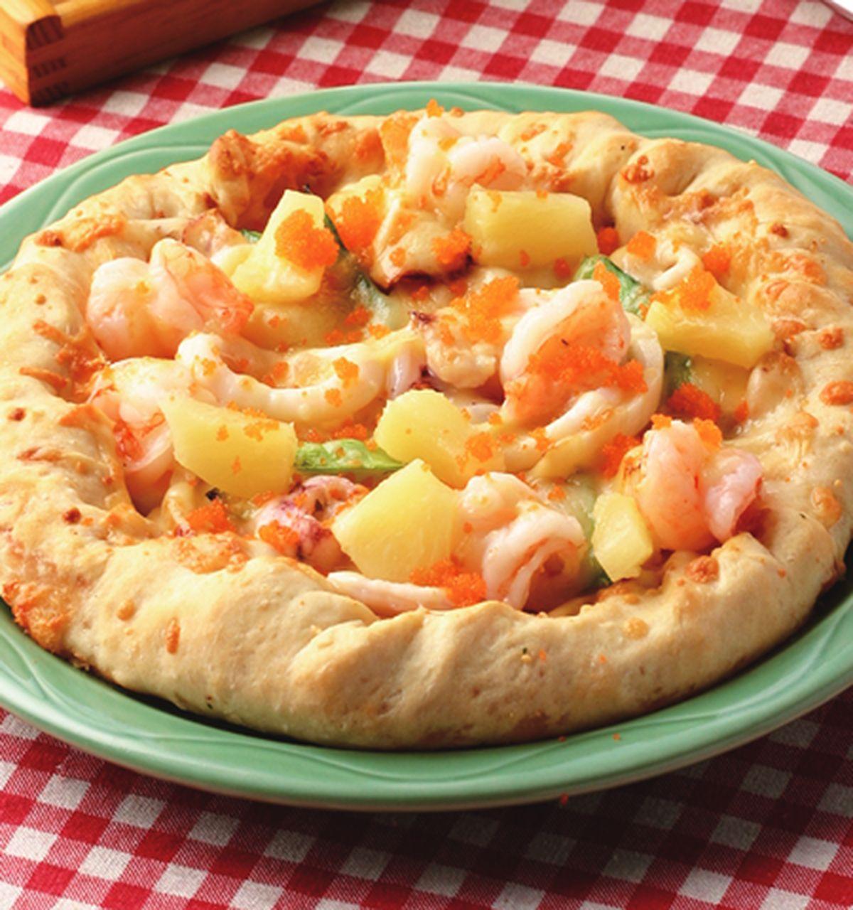 食譜:黃金蝦球明太子芝心比薩