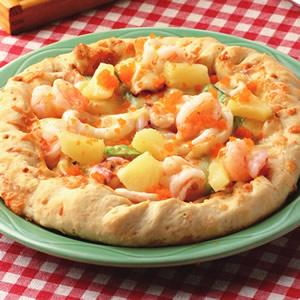黃金蝦球明太子芝心比薩