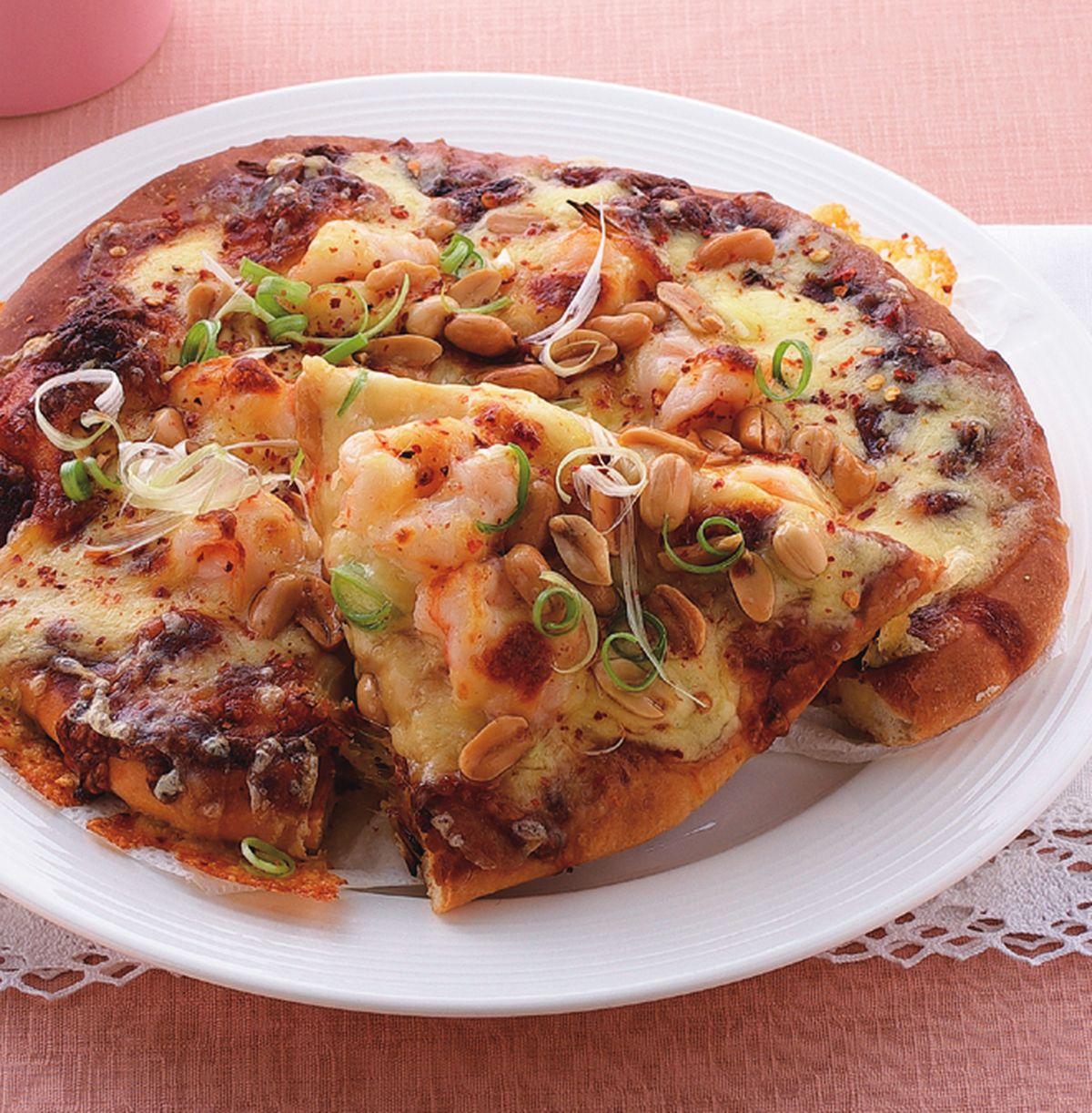 食譜:宮保蝦球披薩