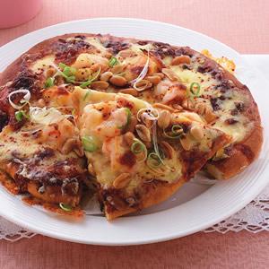 宮保蝦球披薩