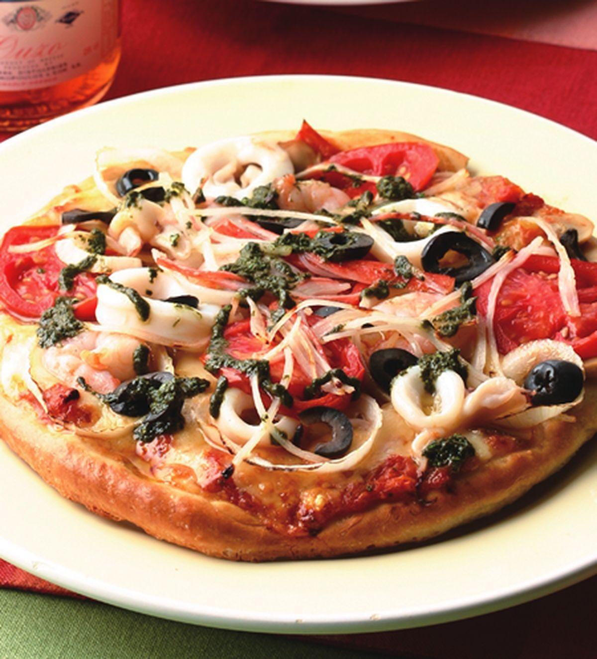 食譜:西西里海鮮薄片披薩