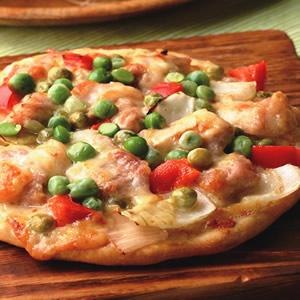 奶油雞肉薄片披薩披薩