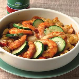 咖哩鮮蝦焗通心麵