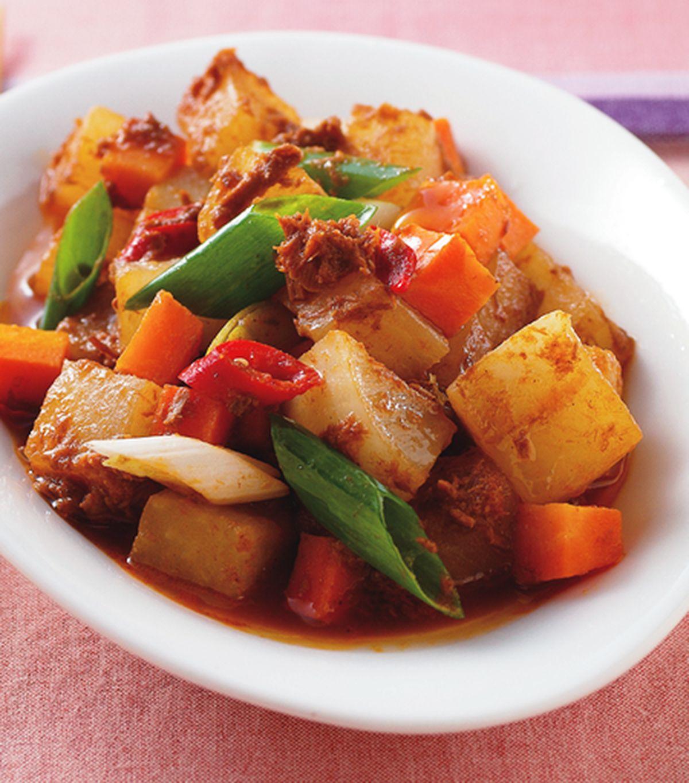 食譜:鮪魚滷白蘿蔔