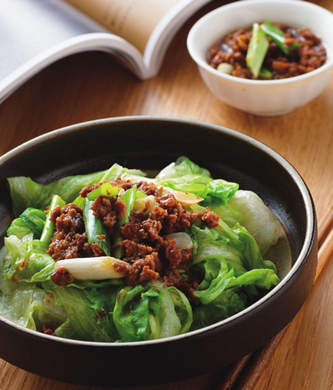 食譜:肉醬燙萵苣
