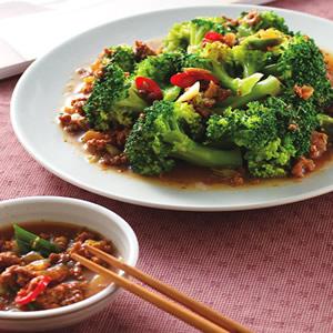 瓜仔肉拌青花椰菜