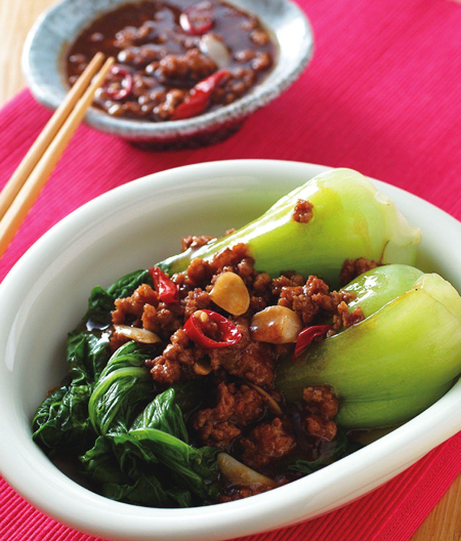 食譜:肉末青江菜