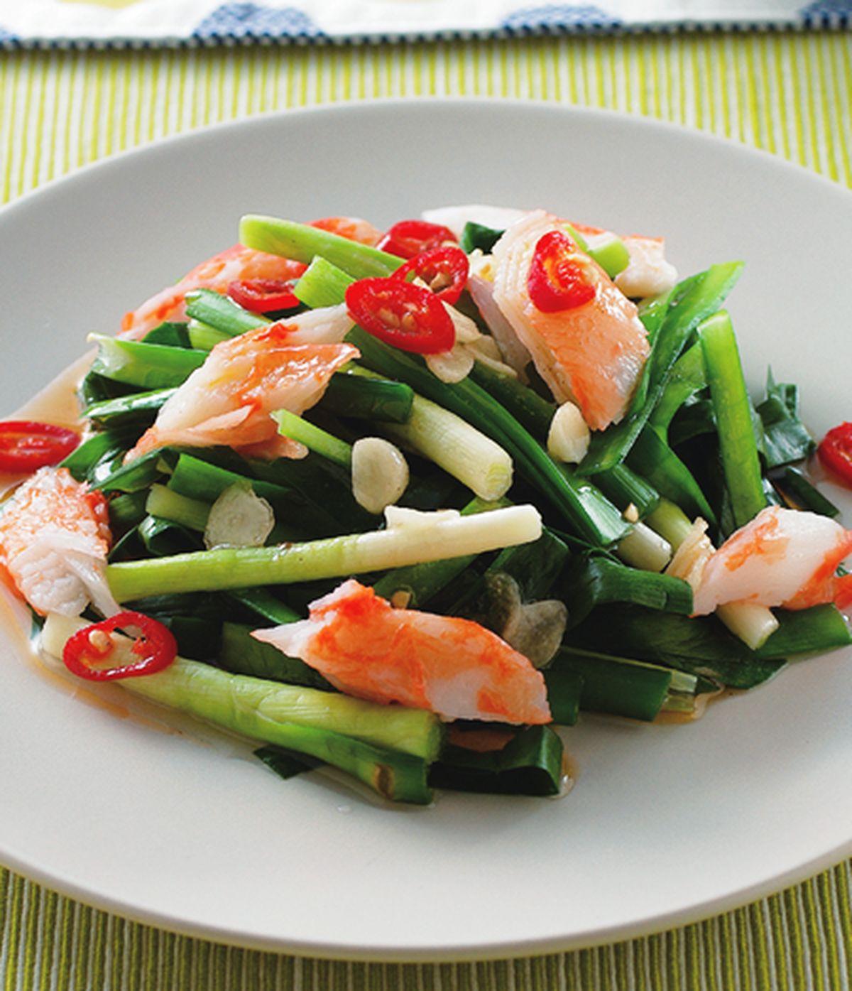 食譜:鱘味棒燙韭菜