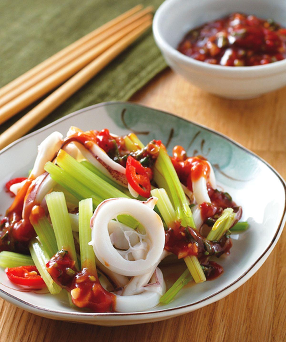 食譜:芹菜拌透抽