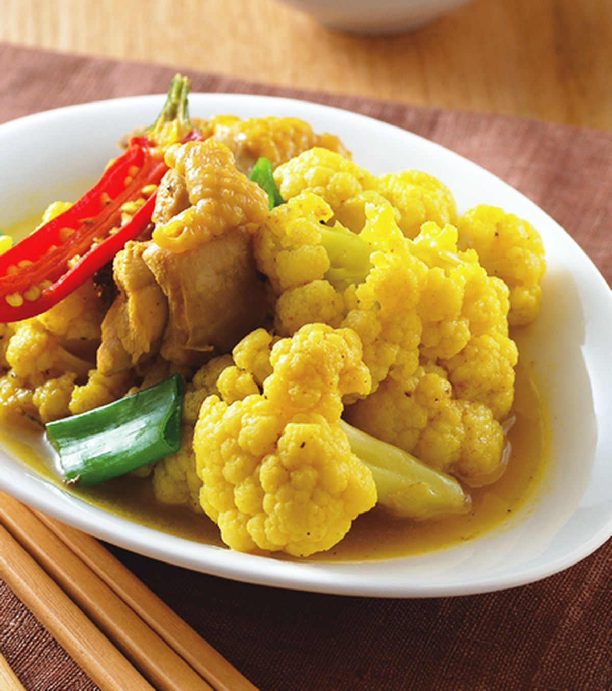 食譜:咖哩雞燉白花椰