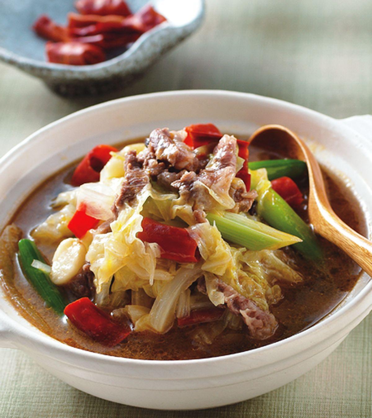 食譜:川式麻辣白菜牛