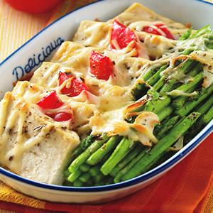 蘆筍焗豆腐