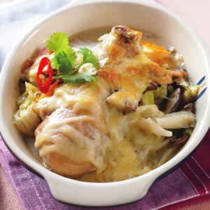 椰漿雞焗白菜