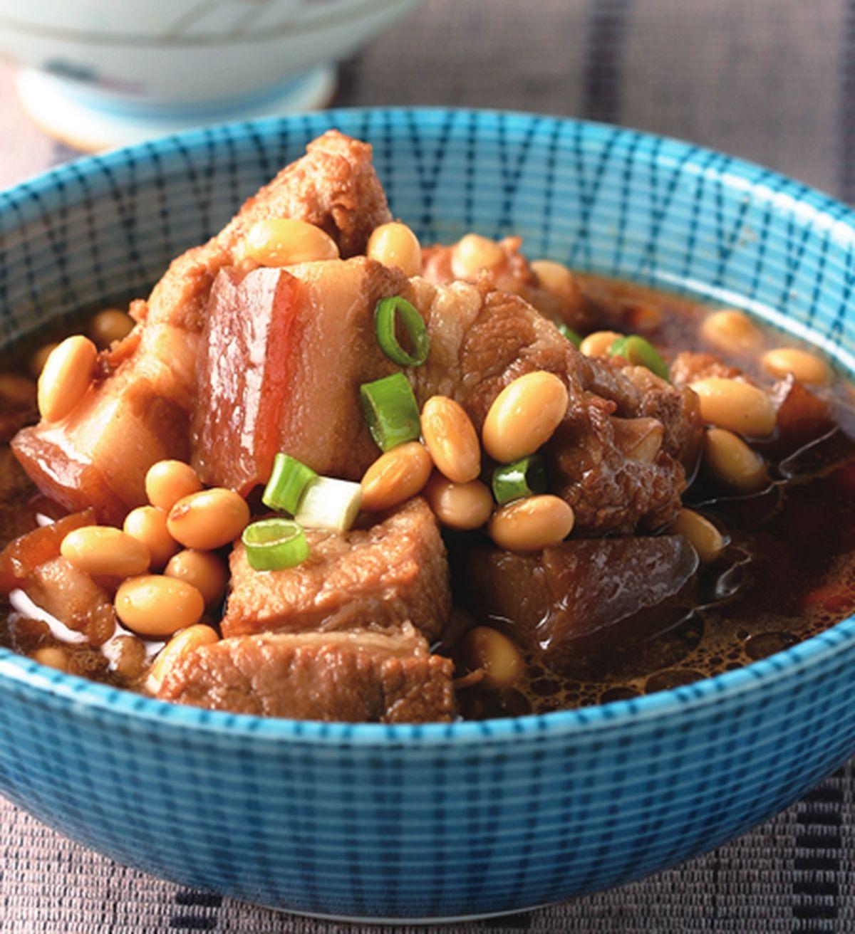 食譜:黃豆燒肉