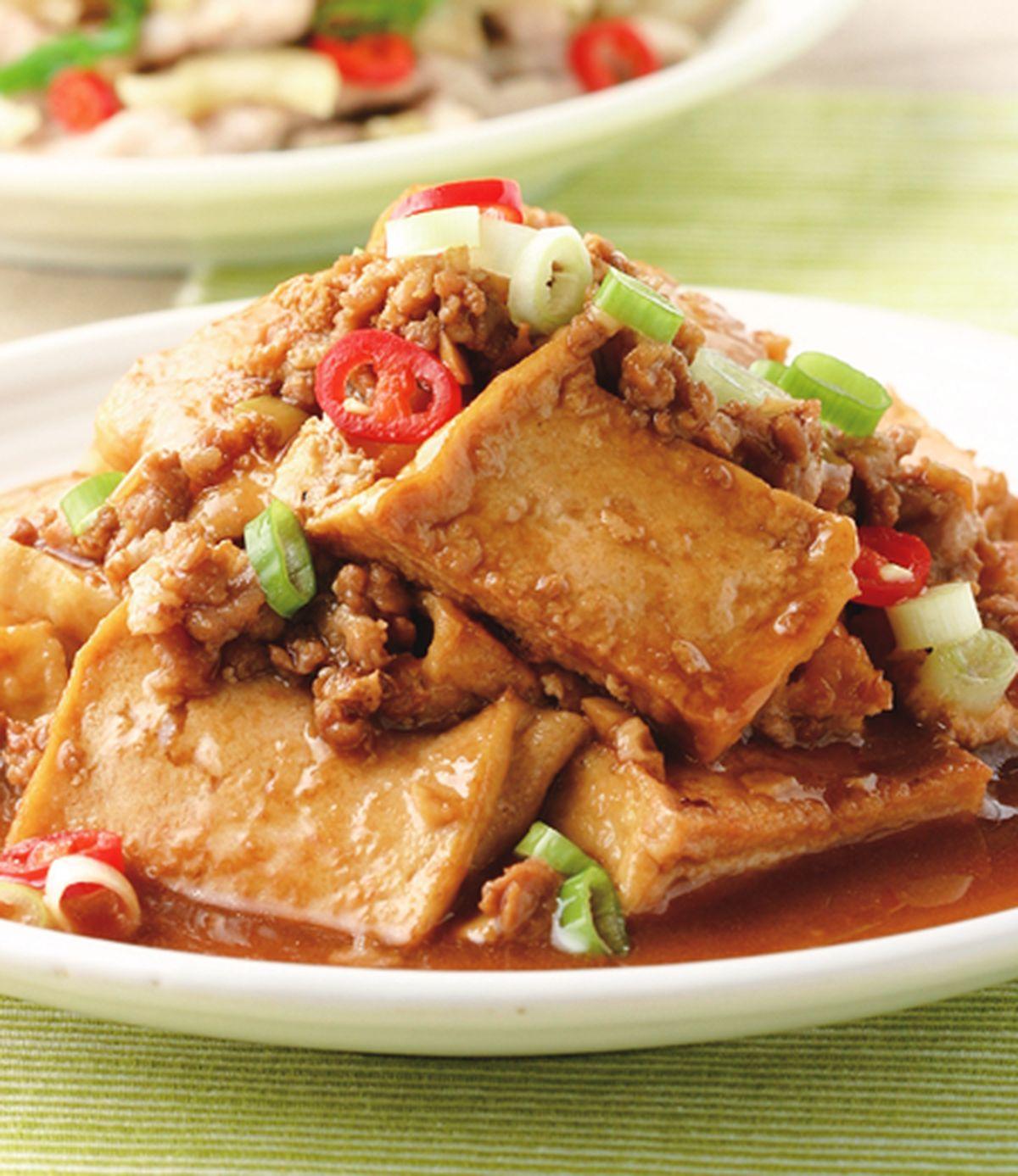 食譜:肉末燒豆腐
