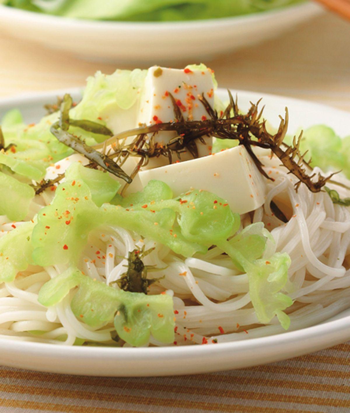食譜:苦瓜豆腐涼麵