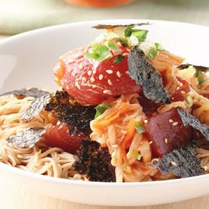 泡菜生魚拌麵