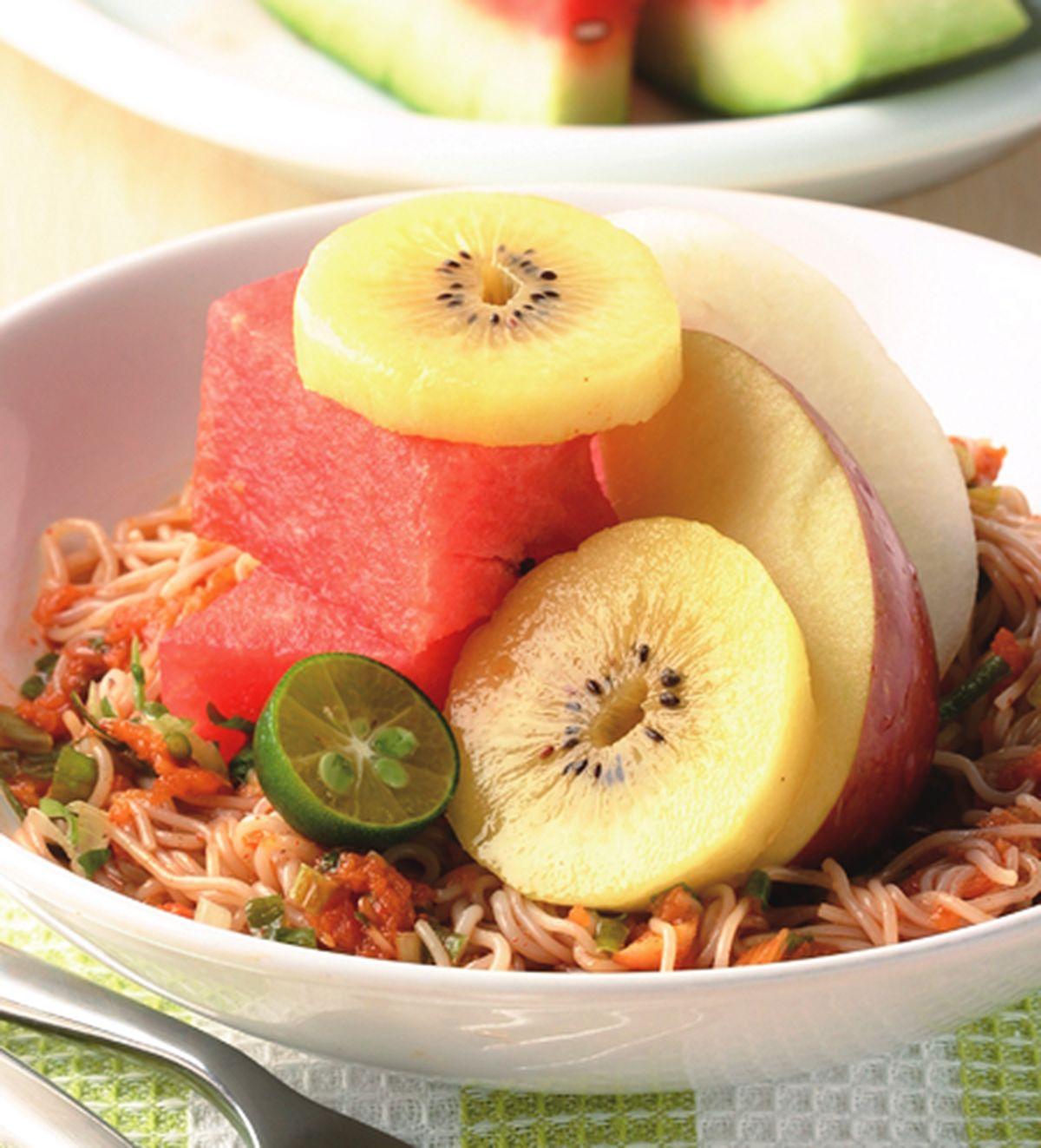 食譜:水果拌醬麵