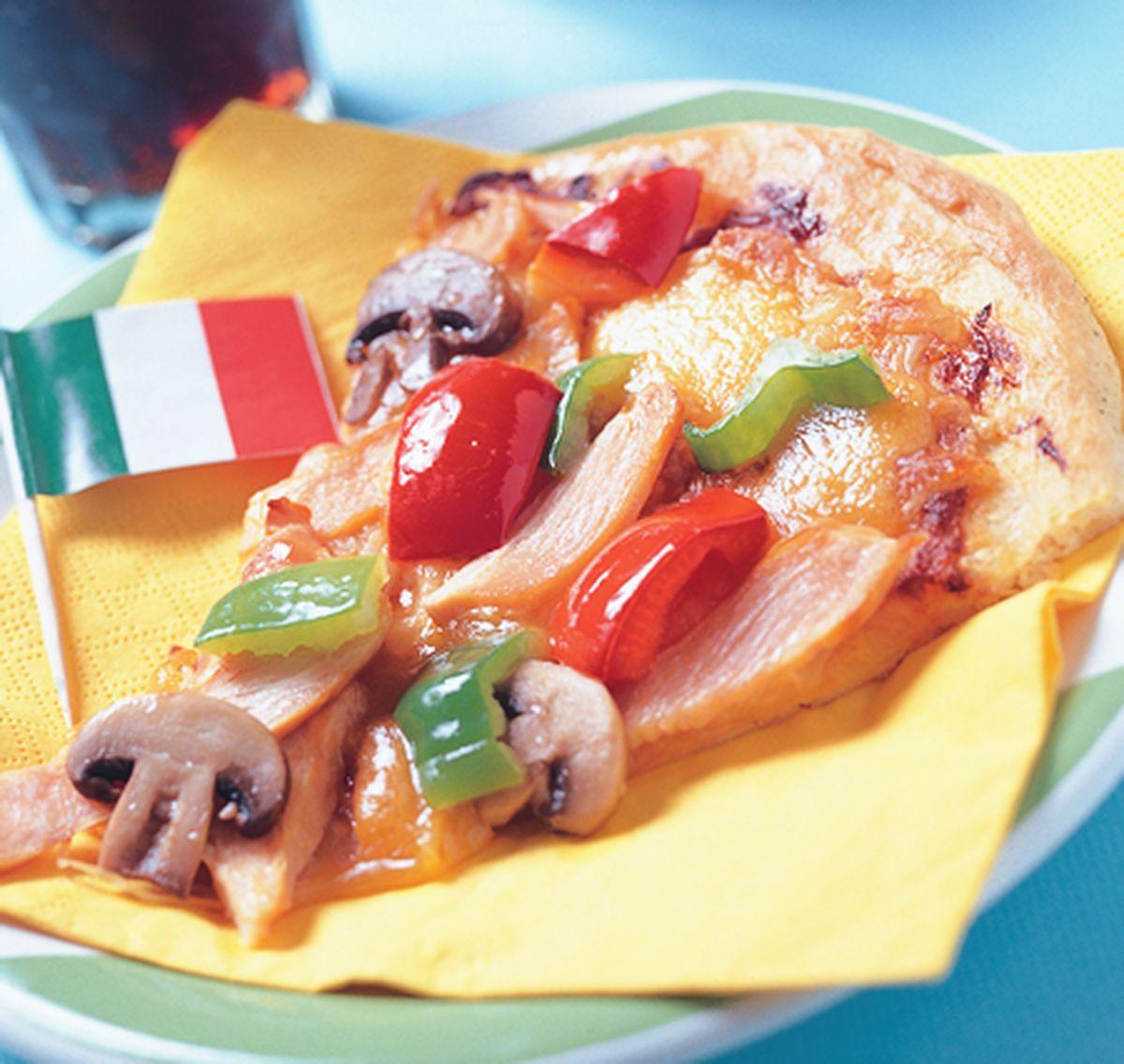 食譜:燻雞肉蘑菇披薩