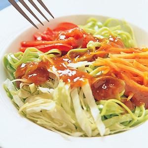 青蔬麻醬涼麵
