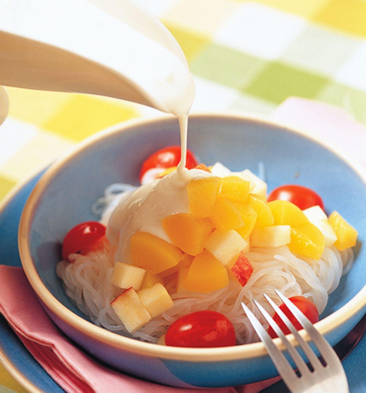 食譜:水果優格蒟篛涼麵