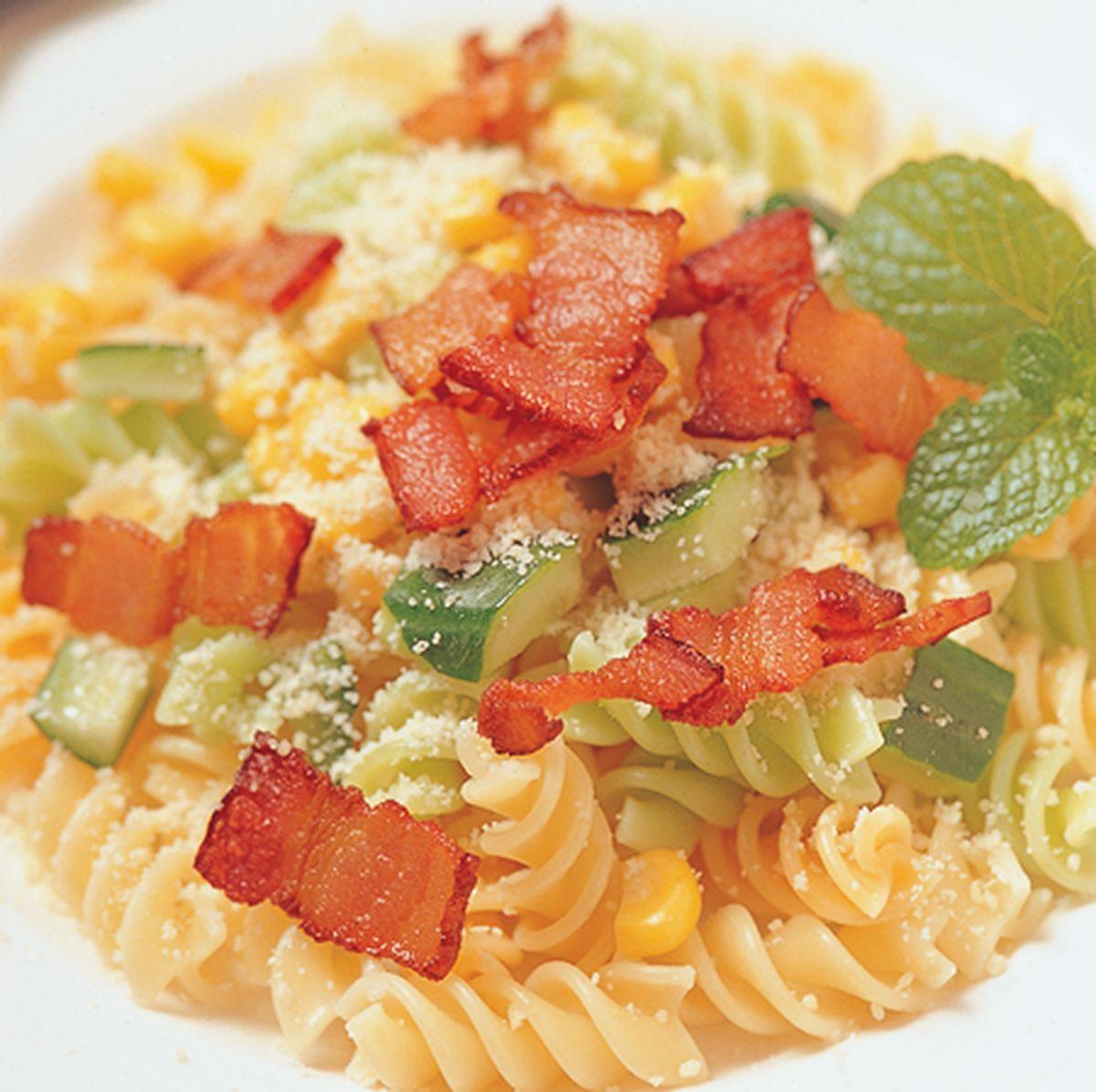 食譜:義大利培根沙拉麵