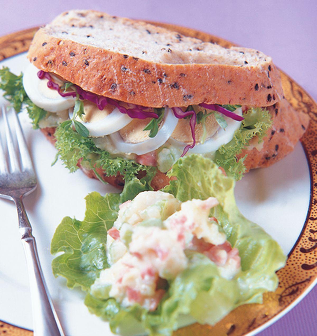 食譜:洋芋蛋片三明治