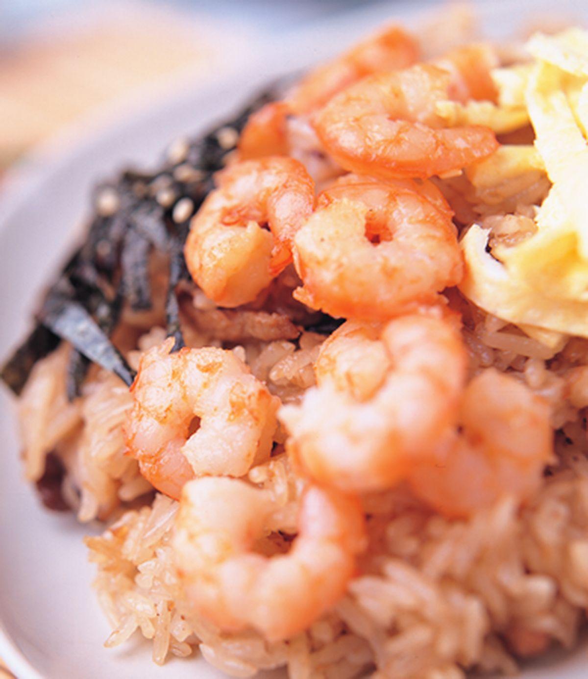 食譜:鮮蝦仁油飯