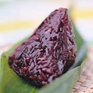 紫米豆沙粽