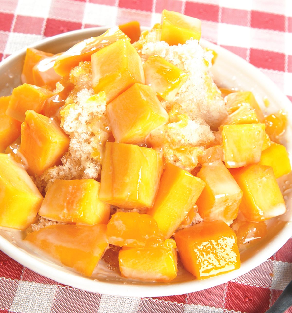 食譜:永康街芒果冰