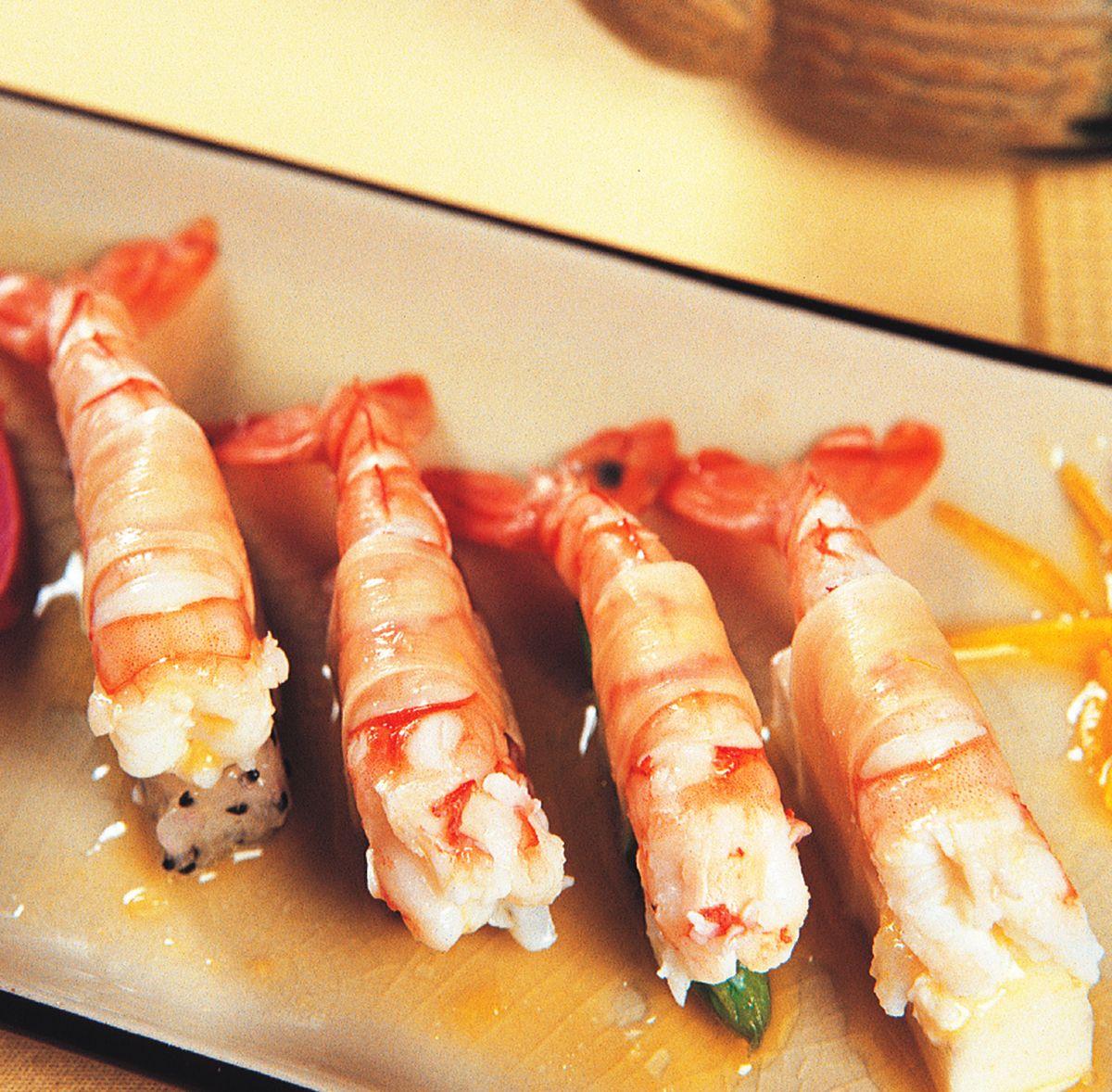 食譜:薑片蝦捲