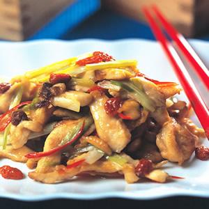 韭黃炒雞絲