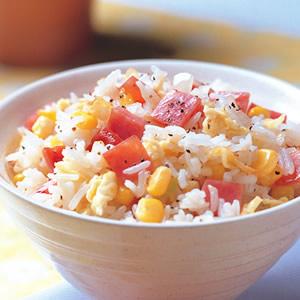 火腿玉米炒飯