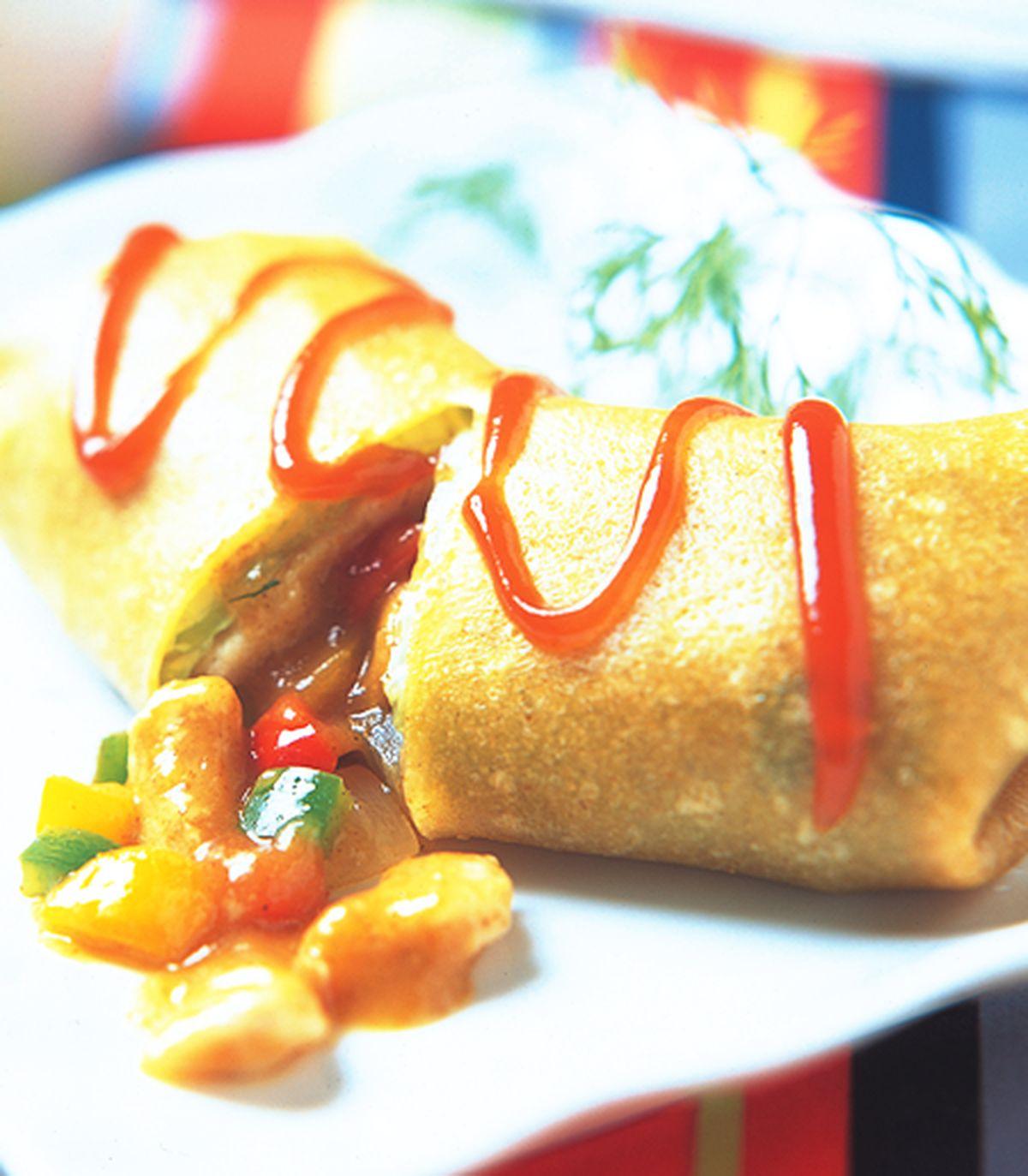 食譜:咖哩雞肉蛋餅捲