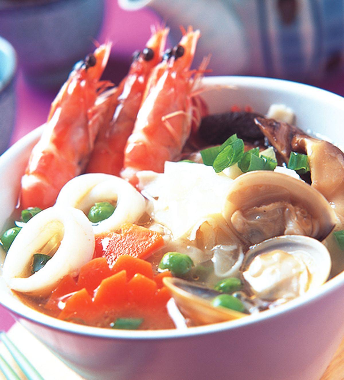 食譜:海鮮蛋餅湯