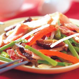 什錦炒蔥油餅