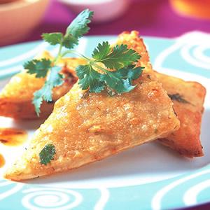香炸蔥油蝦餅