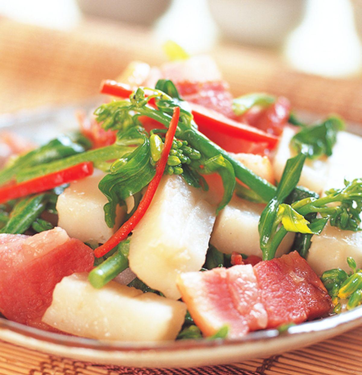 食譜:芥蘭炒蘿蔔糕