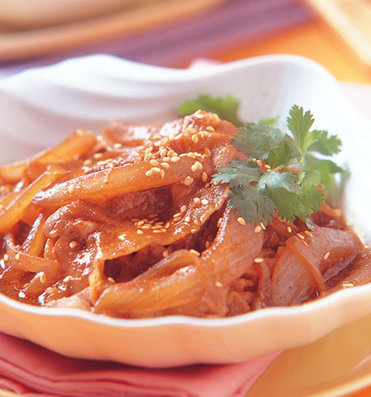 食譜:洋蔥肉片飯