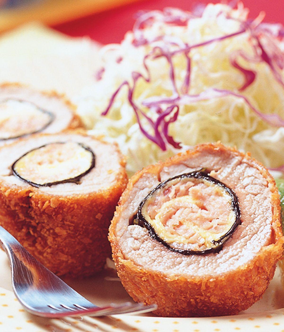食譜:玉子海苔豬排捲