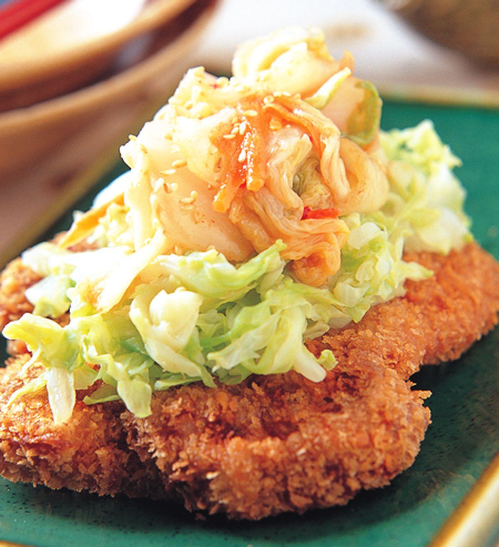 食譜:韓式泡菜炸豬排