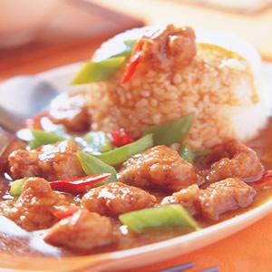 沙茶鹹酥雞燴飯