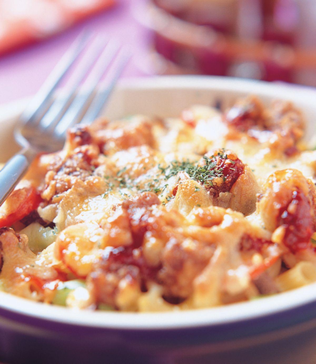 食譜:鹹酥雞焗通心麵
