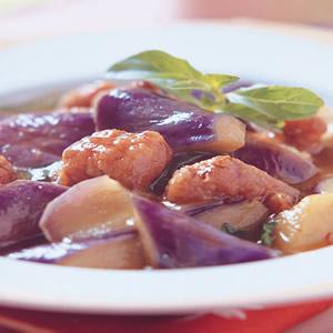 鹹酥雞燜紫茄