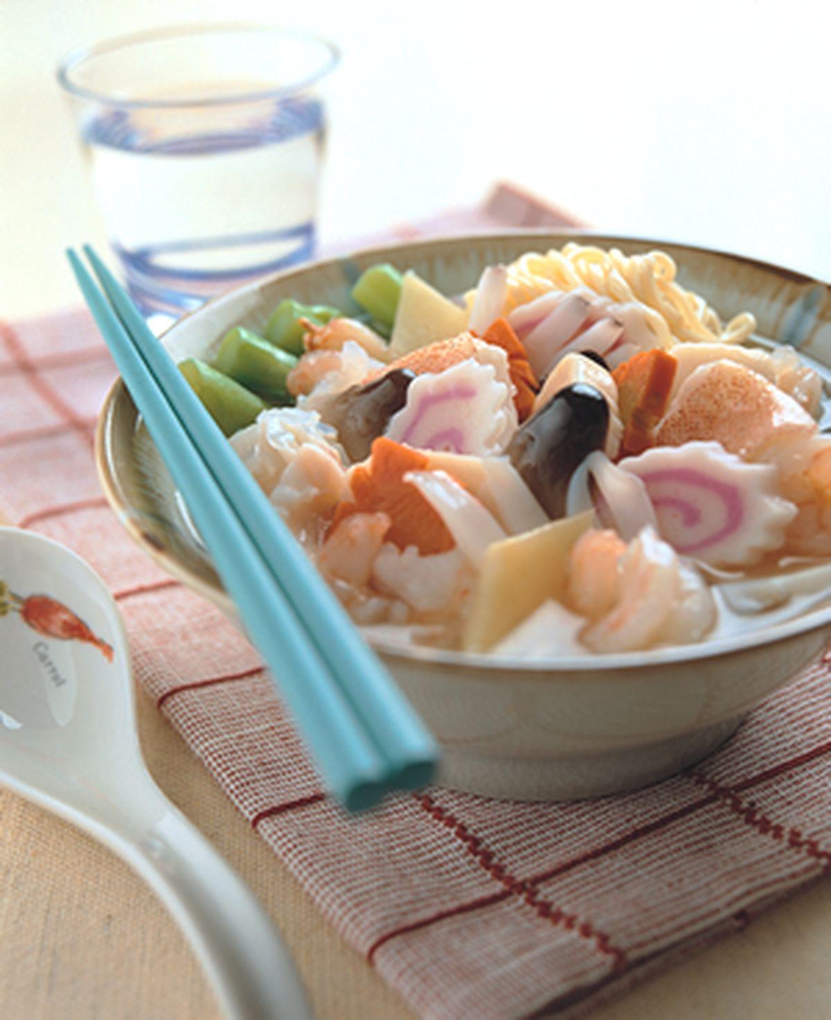 食譜:港式海鮮湯麵